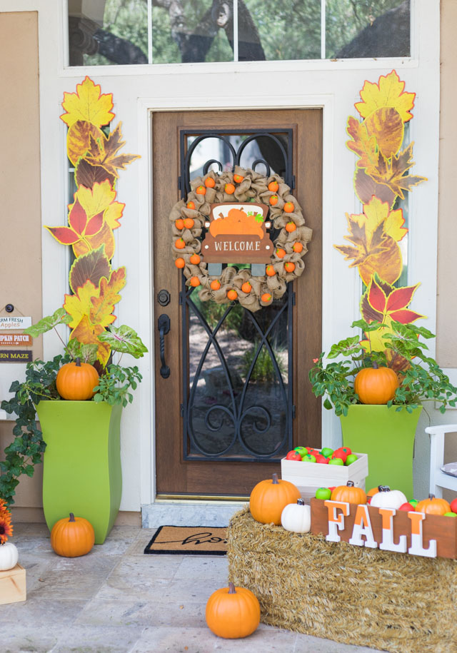 Pumpkin Harvest Fall Porch Decor