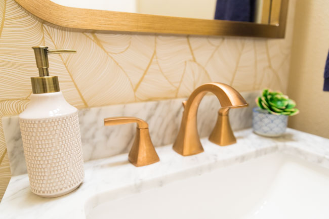 Moen Voss Bathroom Faucet in Brushed Gold