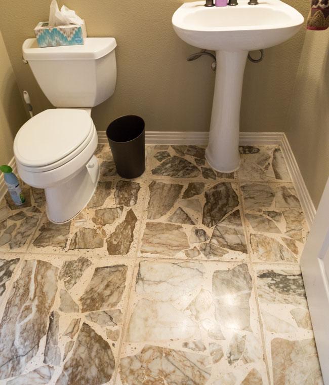 Agglomerate stone floors