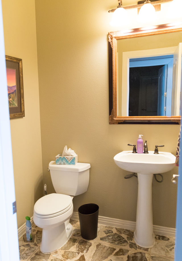 Powder Room Remodel Before Photo