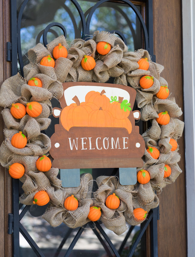 Pumpkin Harvest Fall Wreath Idea