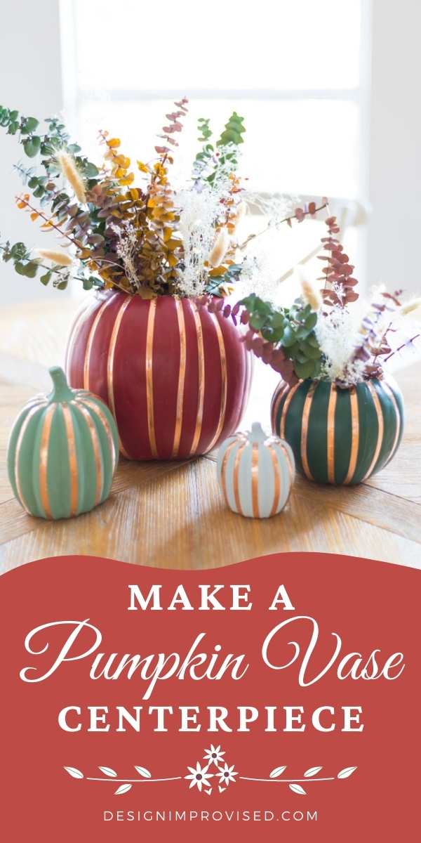 DIY Faux Pumpkin Vases