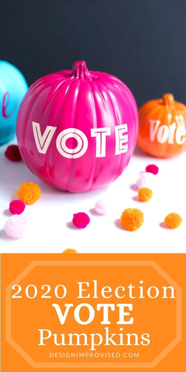 Make vote pumpkins for the 2020 election