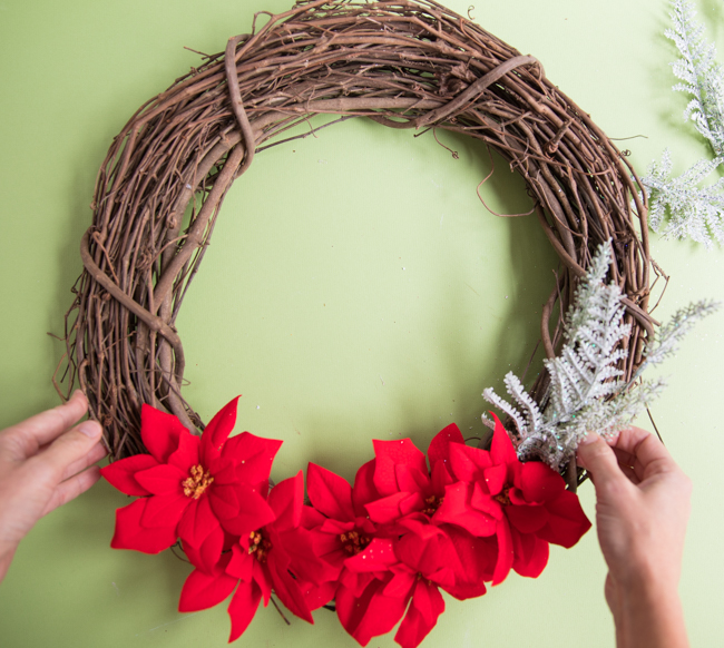 How to make a wreath with Dollar Tree greenery