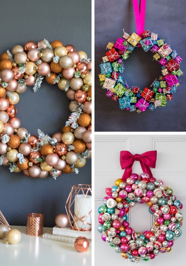 17 Amazing DIY Ornament Wreath Ideas