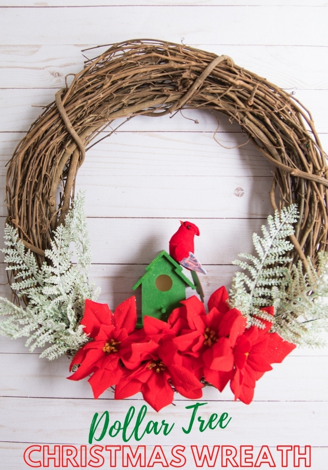 Make a Dollar Tree Christmas Wreath for Under $10!