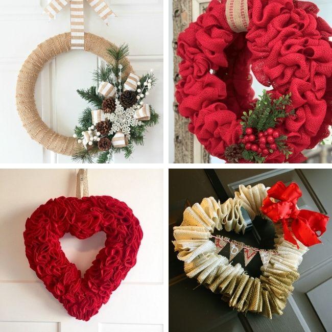 Winter Burlap Wreath Ideas