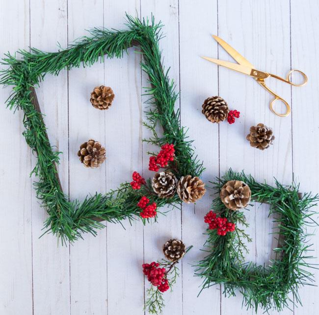 Los marcos navideños de bricolaje más bonitos