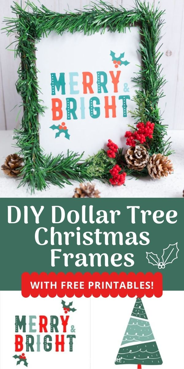DIY Dollar Tree Christmas Picture Frames with Free Printables