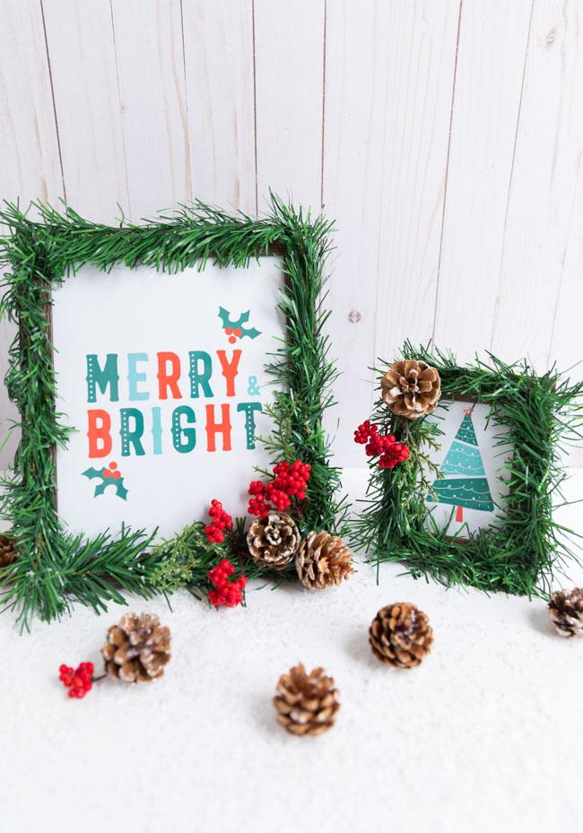 Marcos de Navidad de árbol de dólar de bricolaje