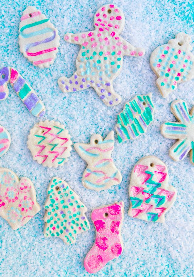 The prettiest salt dough ornaments