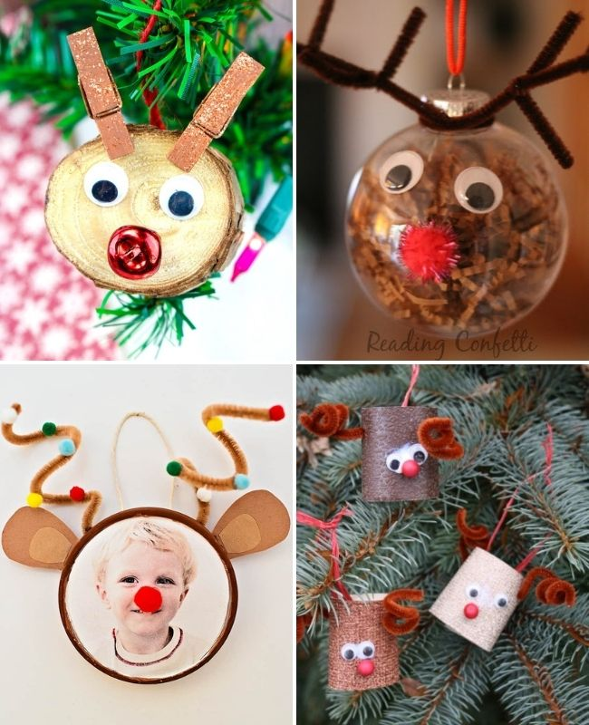 Ideas de adornos de renos y Rudolph
