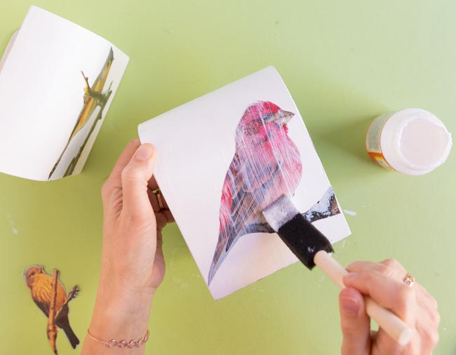How to seal magazine images with Mod Podge