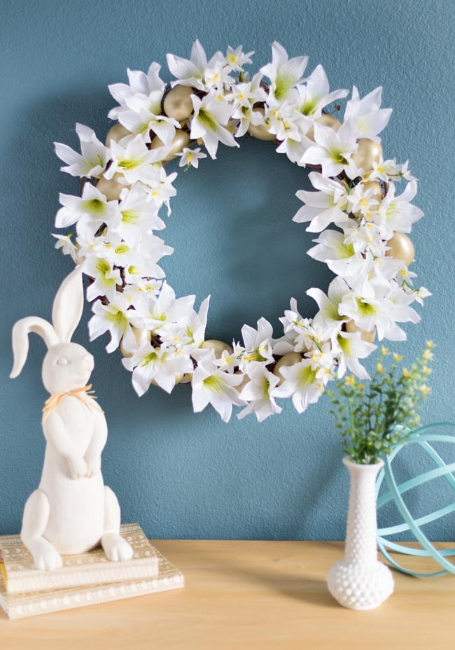 Dollar Tree Easter Wreath – So Pretty!