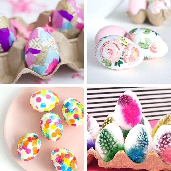Decoupage Easter egg designs