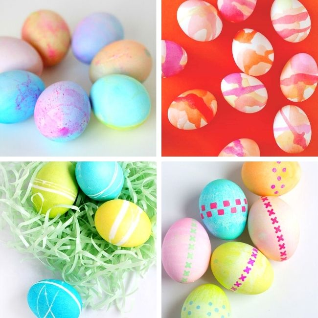 Cool Easter egg dying ideas