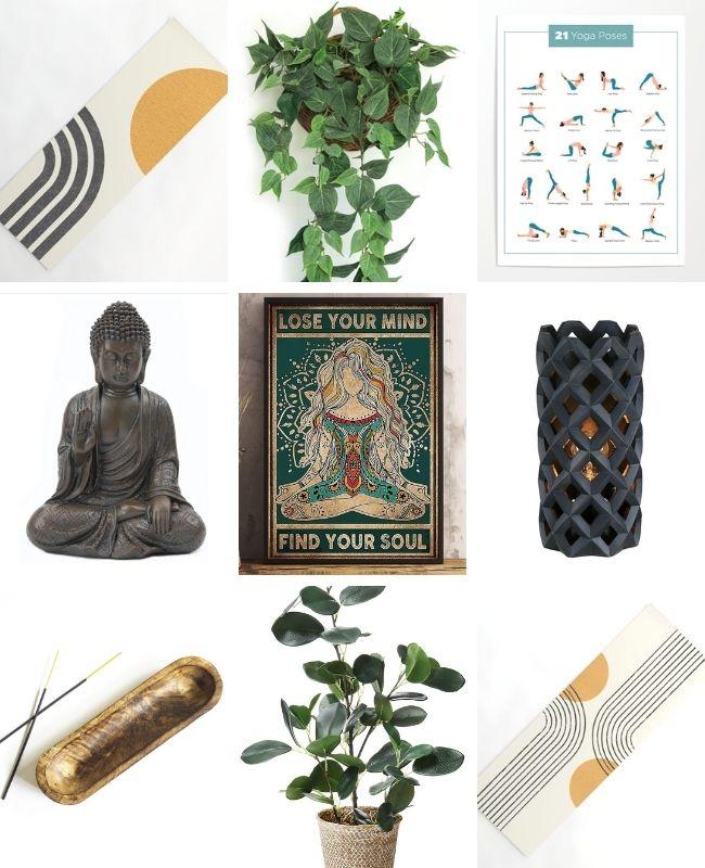 Ideas de decoración de sala de yoga
