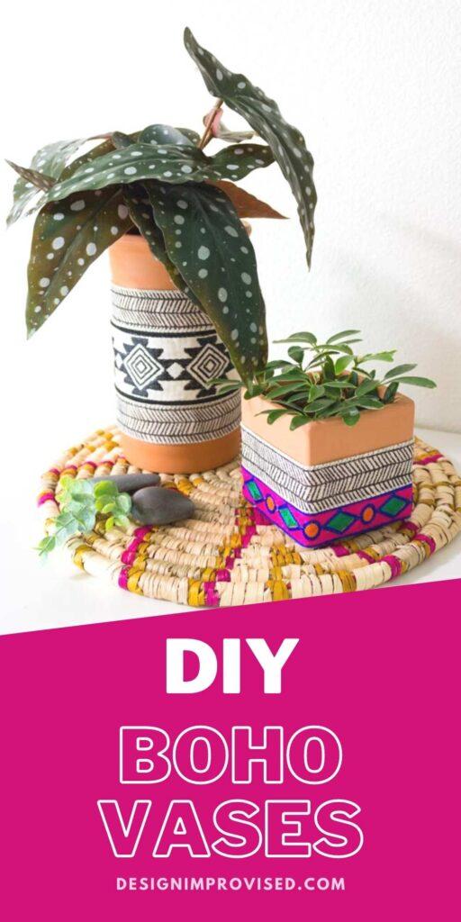 DIY boho terracotta planters